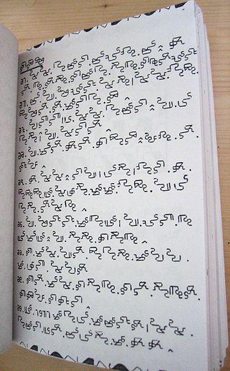Mandombe script - A Mandombe book