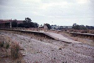 Mangotsfield railway station - Image: Mangotsfield railway station in 1973