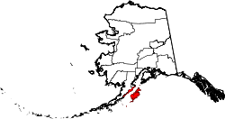 Map of Alaska highlighting Kodiak Island Borough.svg