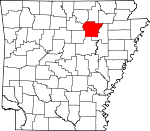 Map of Arkansas highlighting Independence County.svg