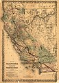 Map of California to accompany printed agreement of S. O. Houghton as to the rights of the Southern Pacific R.R. Co. of Cal. to government lands under Acts of Congress passed July 27, 1866 and March LOC 98688811.jpg