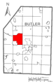 Map of Franklin Township, Butler County, Pennsylvania Highlighted.png