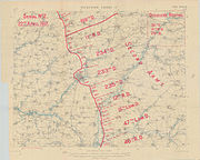 Map of German troop disposition around Saint-Quentin on 22 April 1917