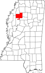 Map of Mississippi highlighting Tallahatchie County.svg