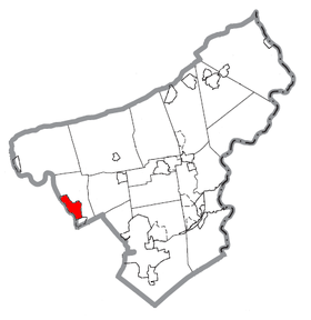 Map of Northampton, Northampton County, Pennsylvania Highlighted.png