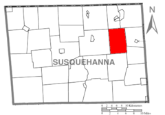 Map of Susquehanna County Pennsylvania highlighting Jackson Township.PNG