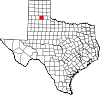 State map highlighting Briscoe County