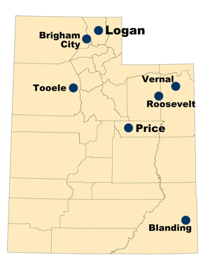 Utah State University–Tooele - USU has 6 regional campuses and more than 20 distance education centers throughout Utah