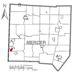 Map of Wheatland, Mercer County, Pennsylvania Highlighted.png