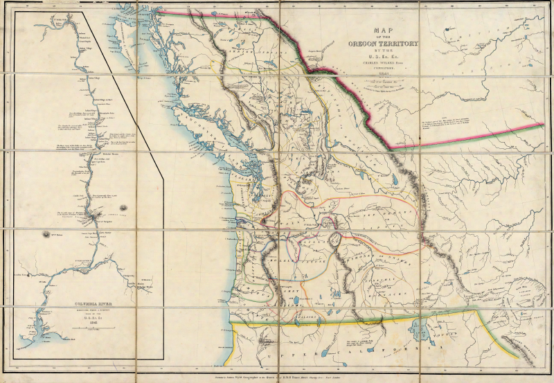 file map of the oregon territory by the u s ex ex png