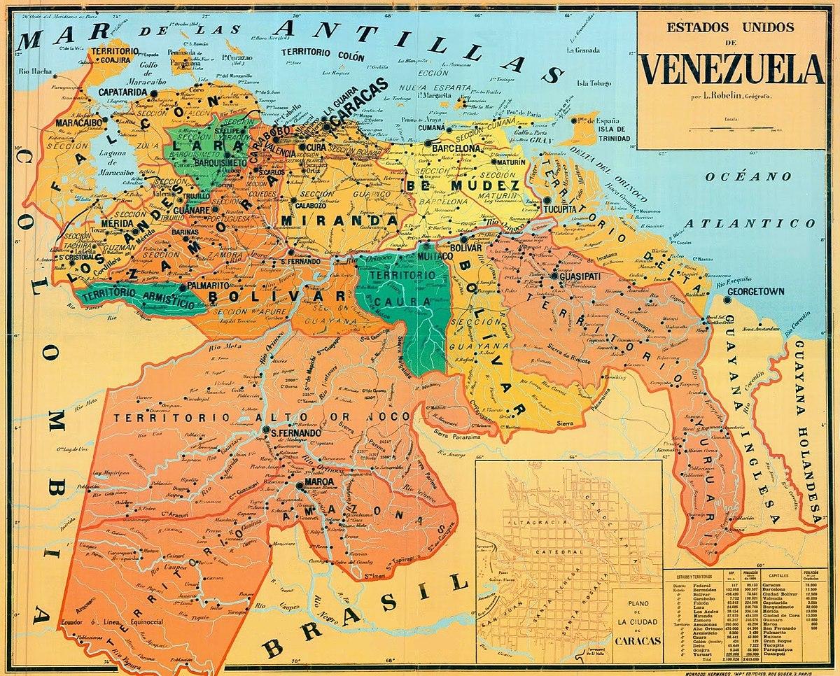 File Mapa De Los Estados Unidos De Venezuela Jpg Wikimedia Commons