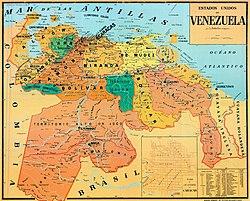 United States Of Venezuela Wikipedia - Mapa de united states