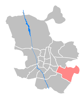 Vicálvaro District of Madrid in Spain