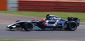 Marcos Martínez - Martínez driving for Pons Racing at the Silverstone round of the 2008 Formula Renault 3.5 Series season