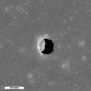 Sub-surface tunnel on the Moon
