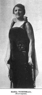 Maria Winetzkaja Moldova-born American mezzo-soprano opera singer