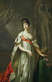 Erbprinzessin Maria Pawlowna Gemälde im Weimarer Schloss von Johann Friedrich August Tischbein 1805 (Quelle: Wikimedia)