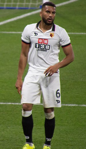Adrian Mariappa - Mariappa playing for Watford in 2017