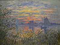 Marine View with a Sunset, by Claude Monet.JPG