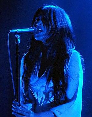 Mariqueen Maandig - Maandig performing with How to Destroy Angels in 2013.