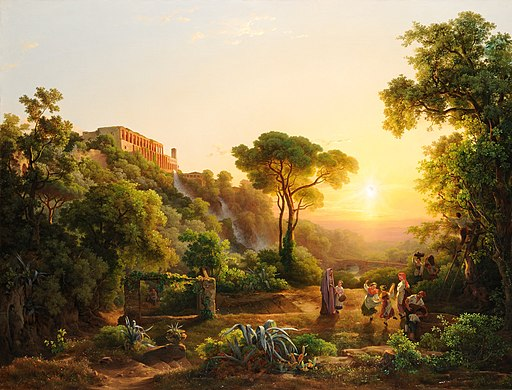 Markó, Károly - Landscape at Tivoli, with a Scene from the Grape Harvest - Google Art Project