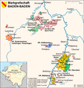 Karte der Markgrafschaft Baden-Baden
