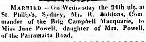 Richard Siddins - Marriage notice of Richard Siddins in 1816