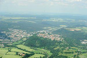 Marsberg - Aerial view of Marsberg/Obermarsberg