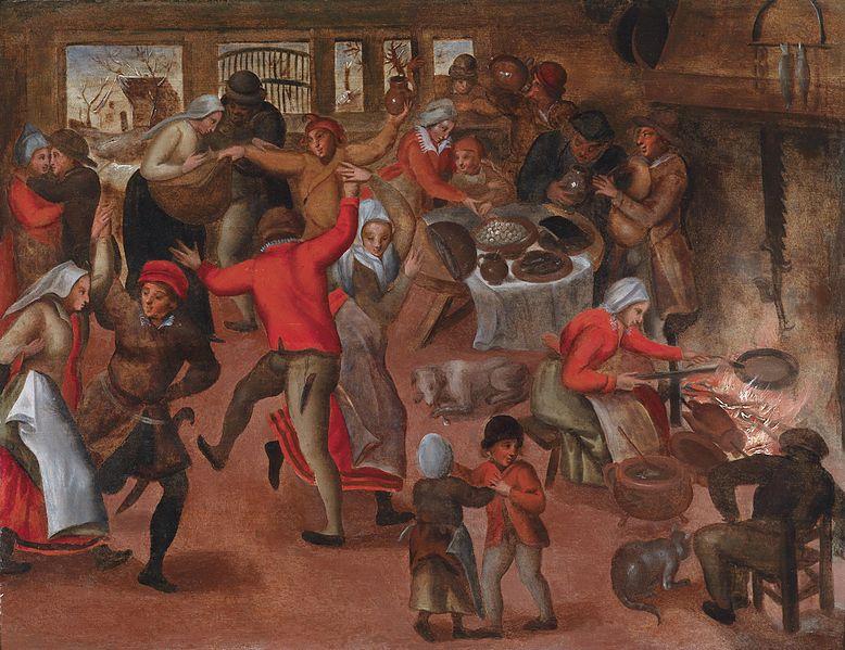 Danza nella taverna.By Marten Van Cleve