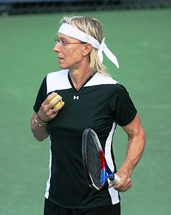 Martina Navrátilová at the 2010 US Open 03.jpg