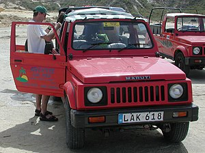India–Malta relations - A pair of Indian Maruti Gypsy vehicles in Gozo, Malta.