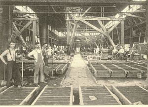 Mason Machine Works - View of the foundry, Mason Machine Works, 1898