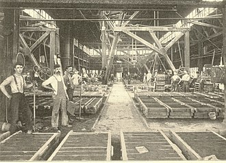 Mason Machine Works - View of the foundry, Mason Machine Works, 1898