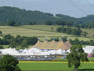 National Eisteddfod of Wales - A view of the Pafiliwn (Pavilion) for the 2003 National Eisteddfod, held at Meifod, Powys