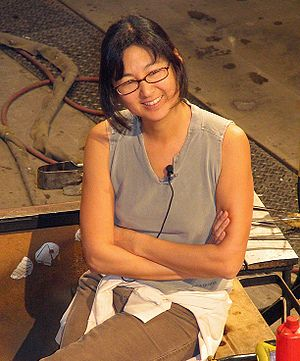 Maya Lin - Lin at the Museum of Glass in Tacoma, Washington (2007)
