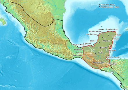 Location of the Mayan people and their principal cities Mayas en.PNG