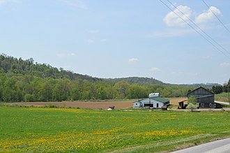 West Mahoning Township, Indiana County, Pennsylvania - Fields and a farm on McCormick Road