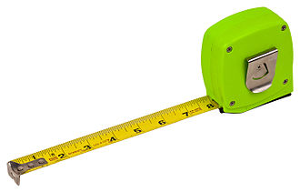 Tape measure - Self-retracting metal tape measure (US customary)