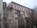 Medieval Church Remains (Dominican yard) Monument. Budapest Hilton (rear view) Buda Castle Quarter, Budapest.JPG