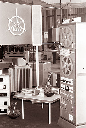 Iskra (company) - Iskra stand at the 1961 International fair Modern electronics in Ljubljana