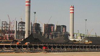Medupi Power Station - Development of the coal yard, early 2014