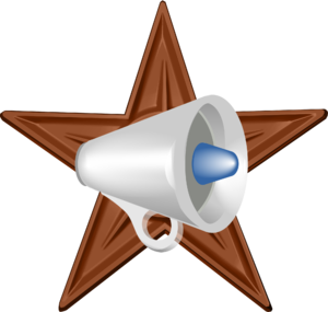 English: Megaphone Barnstar