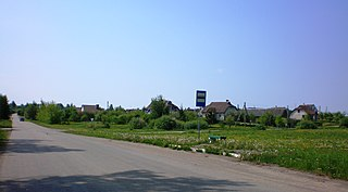 Meironiškiai Village in Kaunas County, Lithuania