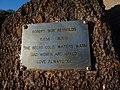 Memorial plaque for Robert Reynolds on Samurai Beach headland.jpg