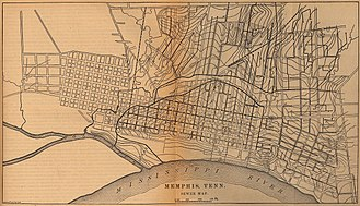 Timeline of Memphis, Tennessee - Plan of the Memphis sewer system in 1880