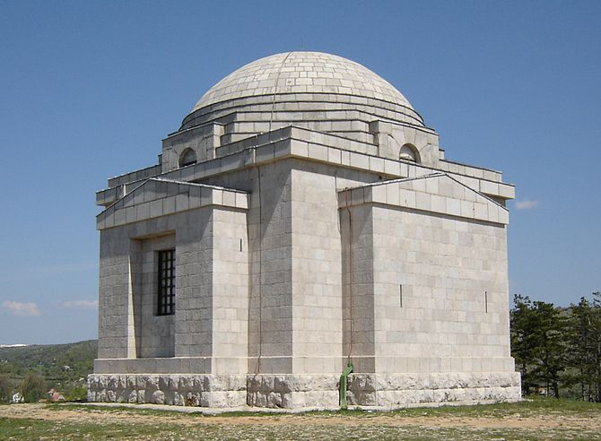 Meštrović Mausoleum in Otavice, in immediate v...