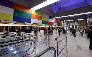 Móricz Zsigmond körtér (Budapest Metro) - Image: Metro Moricz Foto Thaler Tamas
