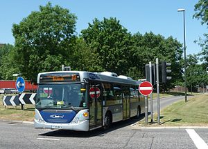 English: Metrobus 578 (YT09 BKV), a Scania Omn...
