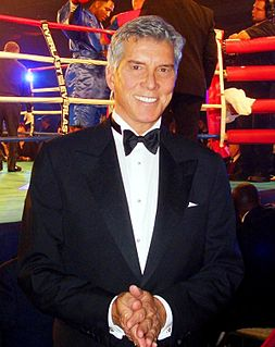 Michael Buffer American ring announcer for boxing and professional wrestling matches