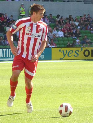 Michael Marrone (footballer) - Marrone playing for Melbourne Heart in 2011